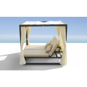 Renava Redondo - Patio Canopy Day Bed with Dual Adjustable Backrests