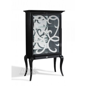A&X AC510-100 - Transitional Black Dining Display Unit