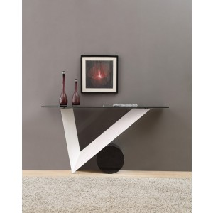 Modrest Bauhaus Modern White and Black Console Table