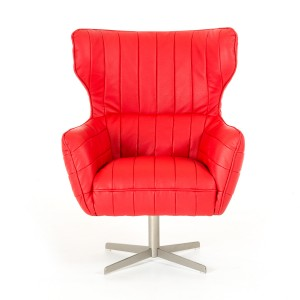 Divani Casa Kylie Modern Red Eco-Leather Accent Chair