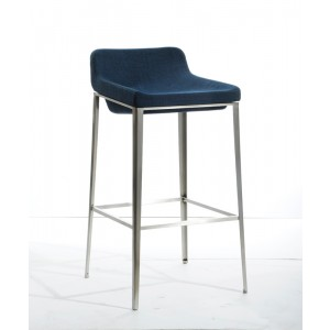 Modrest Adhil Modern Blue Fabric Bar Stool