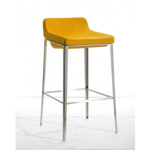 Modrest Adhil Modern Yellow Fabric Bar Stool