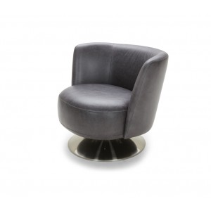 Divani Casa Jill Modern Grey Eco-Leather Accent Chair