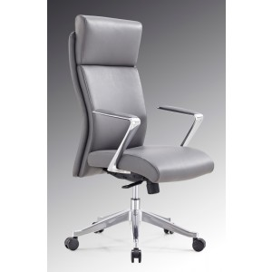 Modrest Iger Modern Grey High-Back Office Chair