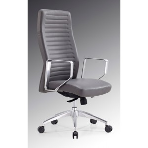 Modrest Barra Modern Grey High-Back Office Chair