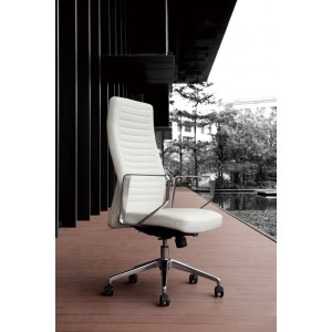 Modrest Barra Modern White High-Back Office Chair