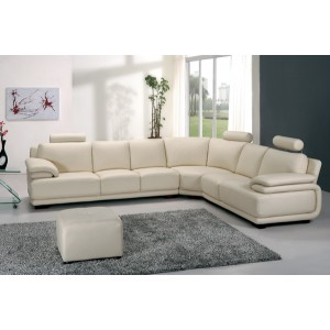 Divani Casa A31 - Modern Leather Sectional Sofa