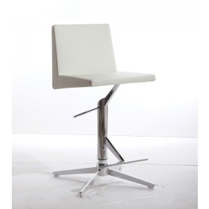 Modrest Arrakis Modern White Leatherette Bar Stool