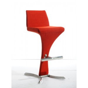Modrest Ascella Modern Orange Fabric Bar Stool