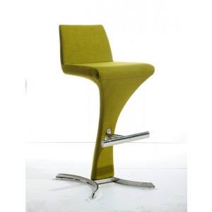 Modrest Ascella Modern Green Fabric Bar Stool