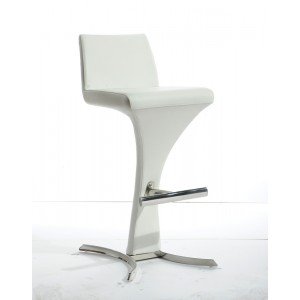 Modrest Ascella Modern White Leatherette Bar Stool