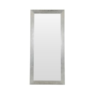 A&X Regal Modern Silver Crocodile Floor Mirror