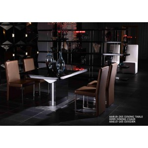 A&X Centro Modern Black High Gloss Dining Table