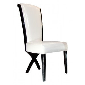 A&X Transitional X leg Dining Side Chair