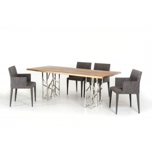 Modrest Acorn Modern Live Edge Wood Dining Table