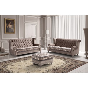 Estro Salotti Adam Modern Grey Fabric Sofa Set