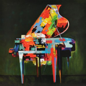 Modrest Absract Piano Oil Painting