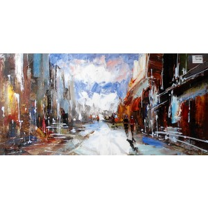 Modrest Abstract City Oil Painting