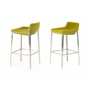 Modrest Adhil Modern Green Fabric Bar Stool
