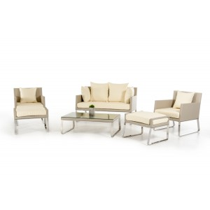Renava Aegean - 5-Piece Patio Lounge Set