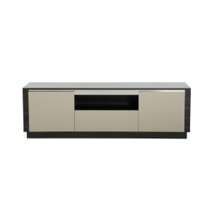 A&X Caligari Modern Oak & Grey Gloss TV Stand