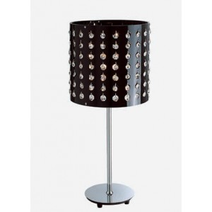 Modrest AK929T Modern Black Table Lamp With Crystals