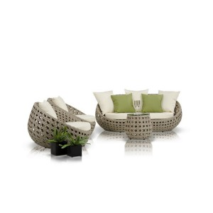 Renava Akoi - Modern 4-Piece Patio Sofa Set