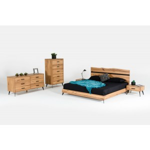 Nova Domus Alan Modern Drift Oak Bedroom Set