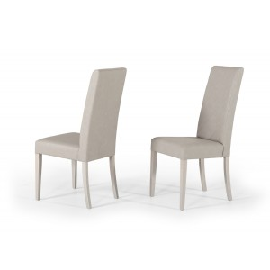 Nova Domus Alexa Italian Modern Grey Dining Chair (Set of 2)