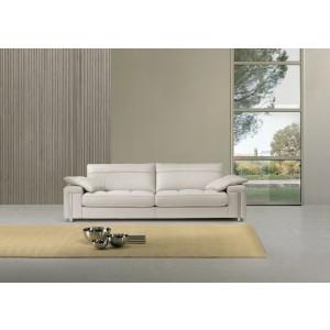 Estro Salotti Alterego Modern White Leather Sofa Set