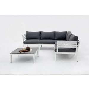 Renava Anafi Outdoor Dark Grey Sectional Sofa Set