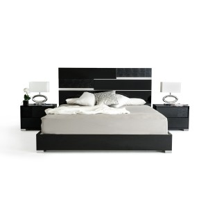 Modrest Ancona Italian Modern Black Bed
