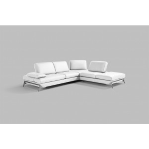 Nova Domus Andrea Modern White Leather Sectional Sofa