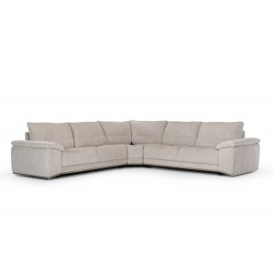Divani Casa Antioch Modern Grey Fabric Sectional Sofa