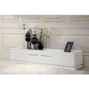 Modrest Ariel - Modern White TV Stand