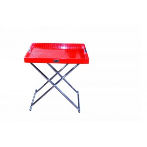 A&X Cecilia Red Crocodile Tray Table
