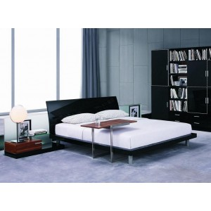 Aron Contemporary Black Bed