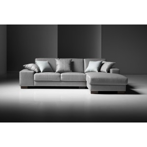 Estro Salotti Arrone Modern Grey Fabric Sectional Sofa