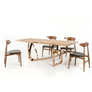 Modrest Auburn Modern Live Edge Wood Dining Table