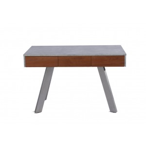Modrest Austin Contemporary Concrete & Walnut Desk