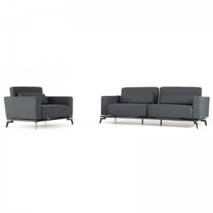 Divani Casa Avenue Contemporary Grey Fabric Sofa Bed & Chair Set