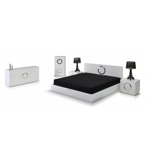 A&X Ovidius - Modern White Crocodile Bedroom Set