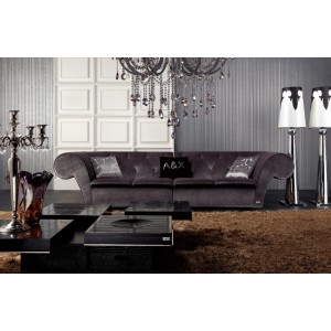 A&X Transitional Fabric 4 Seater Sofa - 023