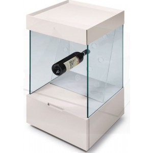 Modrest Vine Contemporary White Wine Shelf