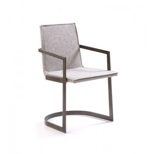 Jago - Modern White Wash Grey Dining Chair (Set of 2)