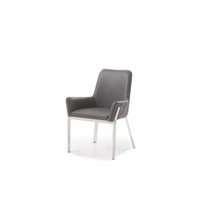 Modrest Robin Modern Grey Bonded Leather Dining Chair