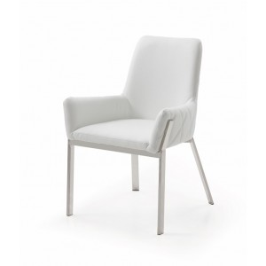 Modrest Robin Modern White Bonded Leather Dining Chair