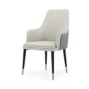 Modrest Duval Modern White & Grey Dining Chair