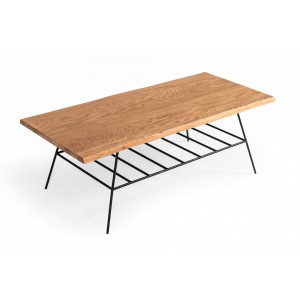 Modrest Barnum - IndustrialOak and Black Iron Live Edge Coffee Table