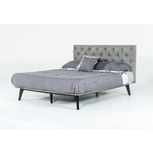 Modrest Gibson Modern Grey Fabric Bed